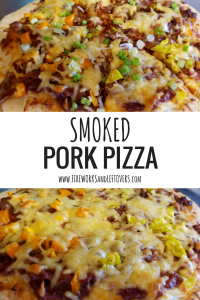 Smoked Pork Pizza ★ This smoky, savory homemade pizza will be a new household favorite! ★ FireworksandLeftovers.com