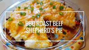 BBQ Roast Beef Shepherd's Pie ★ Reinvent leftover roast beef and mashed potatoes into this savory pie. ★ FireworksandLeftovers.com