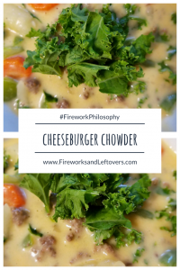 Cheeseburger Chowder ★ This summer-winter mashup is perfect for a quick, satisfying meal any time of year. ★ FireworksandLeftovers.com