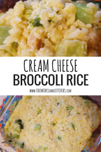 Cream Cheese Broccoli & Rice Casserole ★ This velvety rice casserole uses up all sorts of leftovers from the fridge. ★ FireworksandLeftovers.com