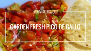 Garden Fresh Pico de Gallo ★ This pico de gallo is the perfect combination of summer flavors! ★ FireworksandLeftovers.com