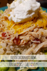 Fiesta Chicken Rice Bowl ★ FireworksandLeftovers.com