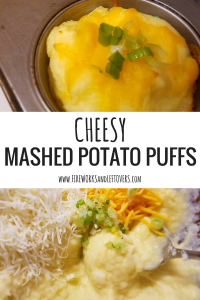 Cheesy Mashed Potato Puffs ★ Leftover mashed potatoes turn into a fun new side for an easy weeknight meal. ★ FireworksandLeftovers.com