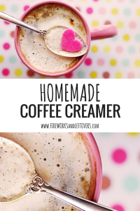 Homemade Coffee Creamer ★ Shake up this three-ingredient coffee creamer. ★ FireworksandLeftovers.com