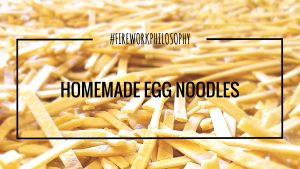 Homemade Egg Noodles ★ Plus Grandma's tips and tools for making a stash of homemade noodles that are perfect for easy side dishes and casseroles. ★ www.FireworksandLeftovers.com