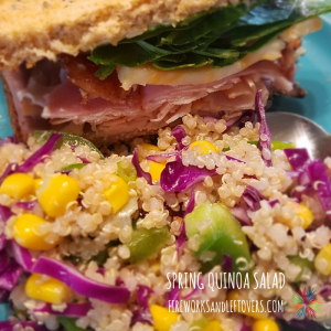 Spring Quinoa Salad ★ An easy, colorful and healthy weeknight side dish! ★ FireworksandLeftovers.com
