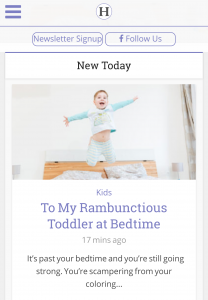 To My Rambunctious Toddler at Bedtime on Her View From Home