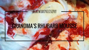 Grandma's Rhubarb Mousse ★ A simple, flavor-packed sweet treat that's perfect for summer. ★ FireworksandLeftovers.com