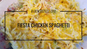 Fiesta Chicken Spaghetti ★ Chicken Recipes | Chicken Casseroles | Slow Cooker Chicken | Leftover Chicken Recipes | Spaghetti Recipes | Weeknight Dinners | Weeknight Meals | Easy Recipes ★ FireworksandLeftovers.com