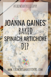 Joanna Gaines' Baked Spinach Artichoke Dip ★ Magnolia Table Recipes | Joanna Gaines | Chip & Jo | Cookbooks | Cookbook Reviews | Home Cook | Easy Recipes | Easy Appetizers | Party Food | Party Dips | Working Mom ★ FireworksandLeftovers.com