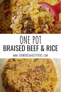 One Pot Braised Beef & Rice ★ One Pot Meal | Easy Dinners | Easy Dinner Ideas | Weeknight Dinners | Weeknight Meals | Beef Recipes | Rice Recipes | Beef and Rice | Leftovers for Lunch | Leftovers for Lunch Ideas | Working Mom