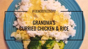 Grandma's Curried Chicken & Rice is a quick and easy family favorite and a great way to use up leftover chicken and rice from the fridge.