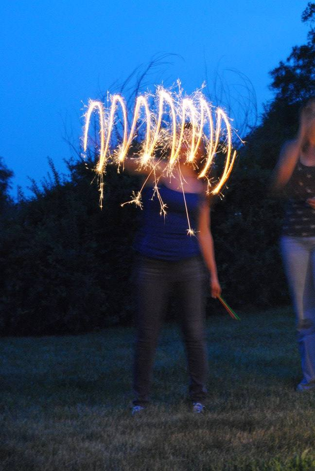 Sparkler designs on the 4th of July.